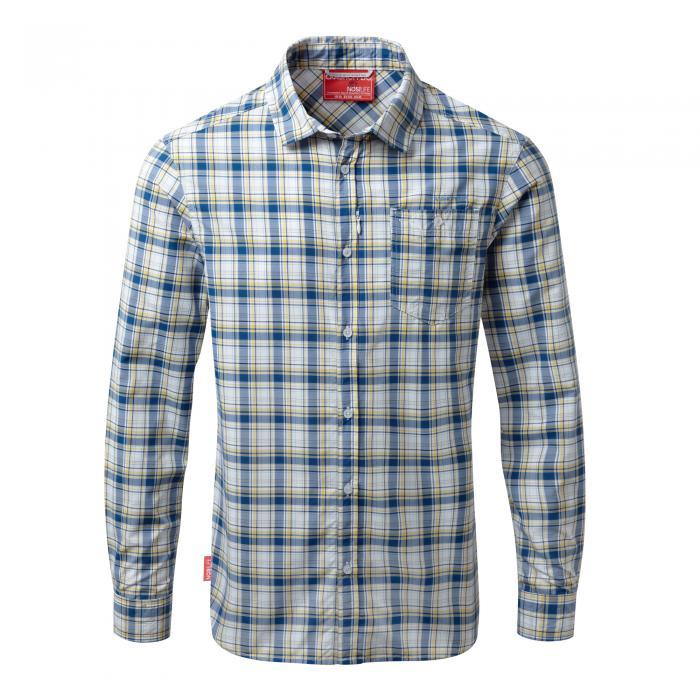 NosiLife Prospect Long Sleeved Shirt Deep Blue Combo