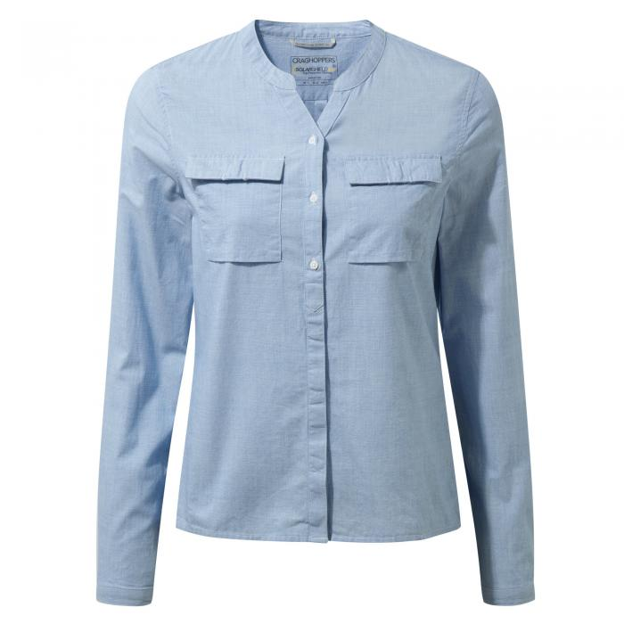 Ravello Long Sleeved Shirt Pale Blue