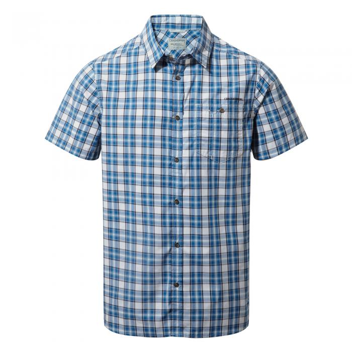 Elmwood Short Sleeved Shirt Deep Blue Combo