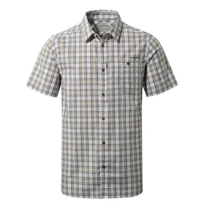Elmwood Short Sleeved Shirt Quarry Grey Combo