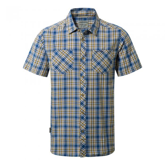 Northbrook Short Sleeved Shirt Deep Blue Combo
