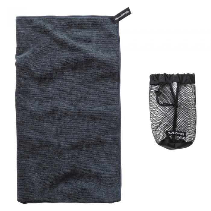 Craghoppers Large Microfibre Travel Towel - Charcoal