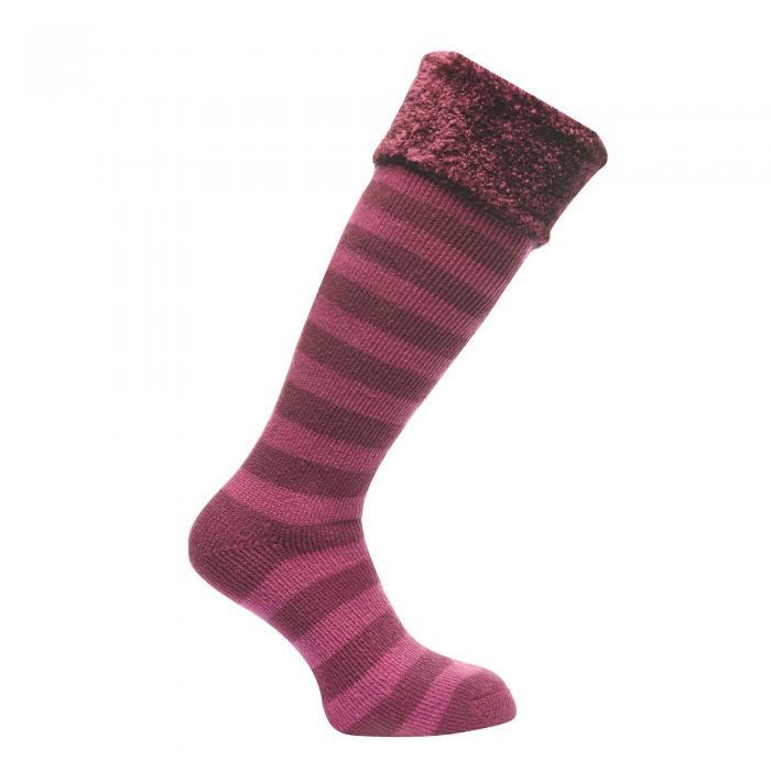 Regatta Women's Fur Collar Wellington Sock - Blackcurrant
