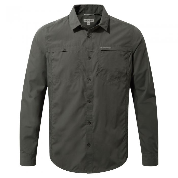 Craghoppers Kiwi Trek Long-Sleeved Shirt - Ashen