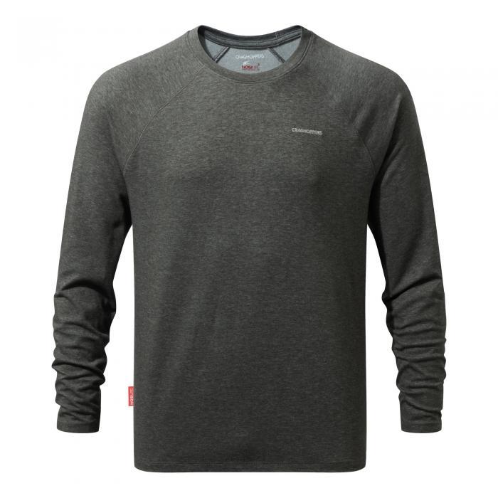 NosiLife Bayame Long Sleeved T-Shirt Black Pepper Marl