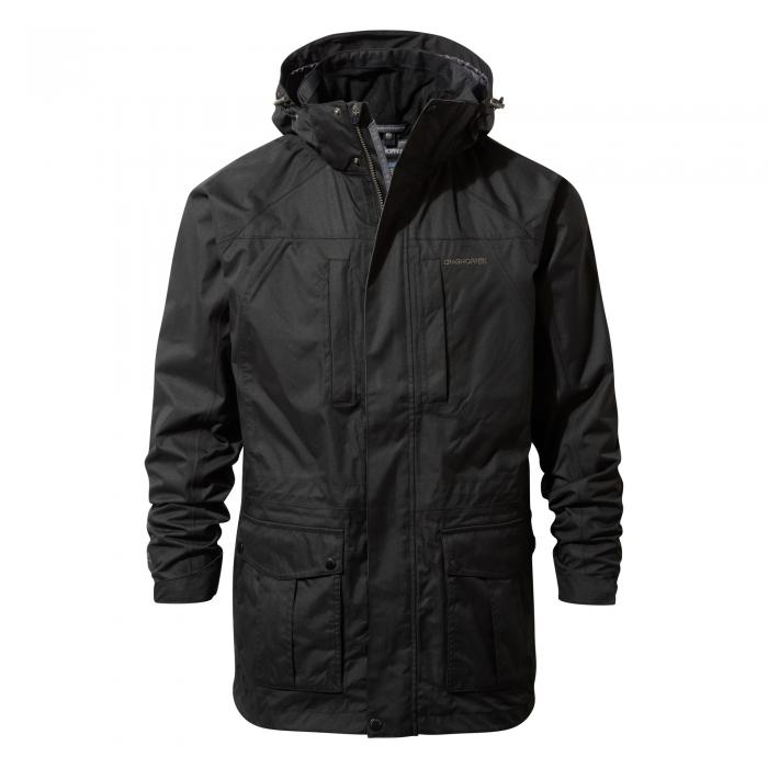 Craghoppers Kiwi Long Interactive Jacket - Black