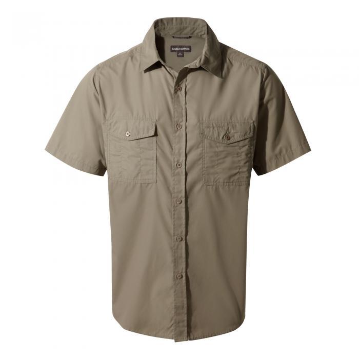 Craghoppers Kiwi Short-Sleeved Shirt - Pebble