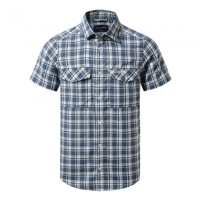 Wensley Short Sleeved Shirt Vintage Indigo