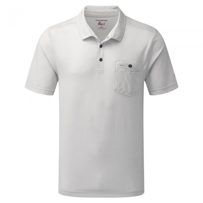 NosiLife Gilles Short Sleeved Polo Light Grey Marl