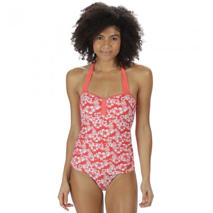 Verbenna Swim Costume Deep Sea Coral