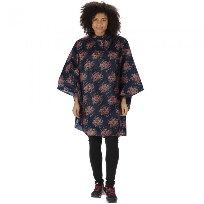 Summer Poncho Navy Floral