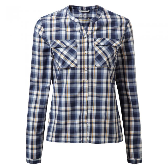 Ravello Long Sleeved Shirt Night Blue Combo
