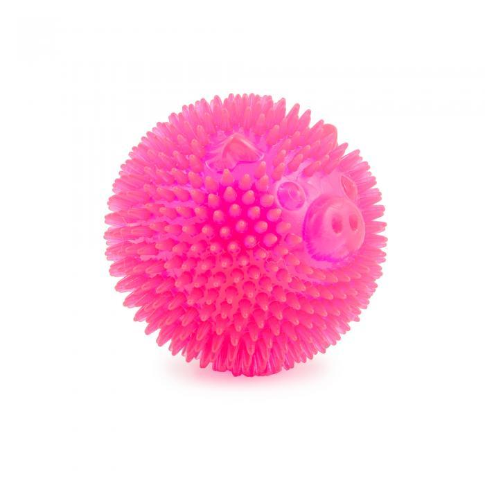 Ancol Flashing Star Ball Pink