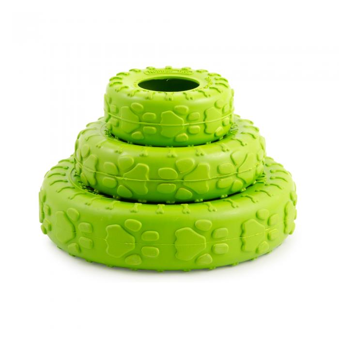 Ancol Dog Tyre Green