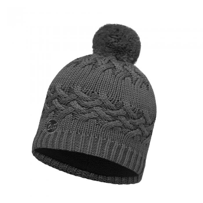 Lifestyle Knitted & Polar Fleece Hat Savva Grey
