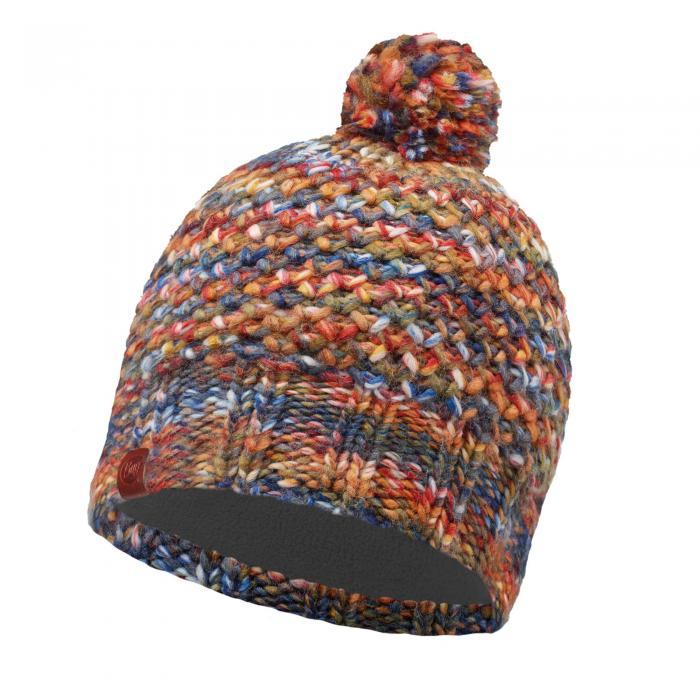 Lifestyle Knitted & Polar Fleece Hat Margo Orange