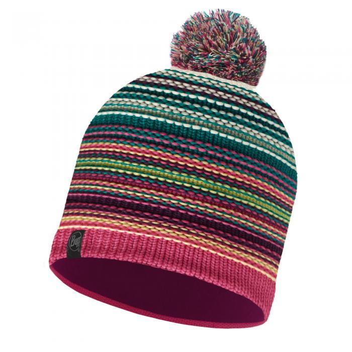 Lifestyle Knitted & Polar Fleece Hat Neper Magenta