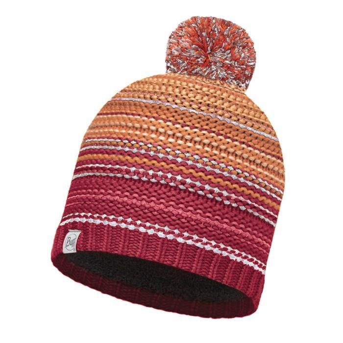 Lifestyle Knitted & Polar Fleece Hat Neper Red Samba