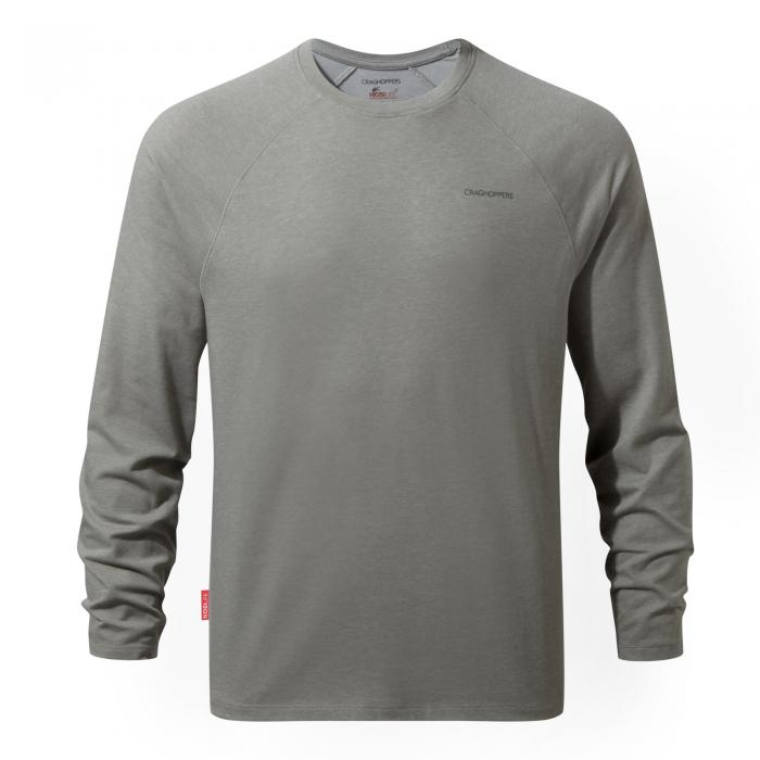 NosiLife Bayame Long Sleeved T-Shirt Soft Grey Marl