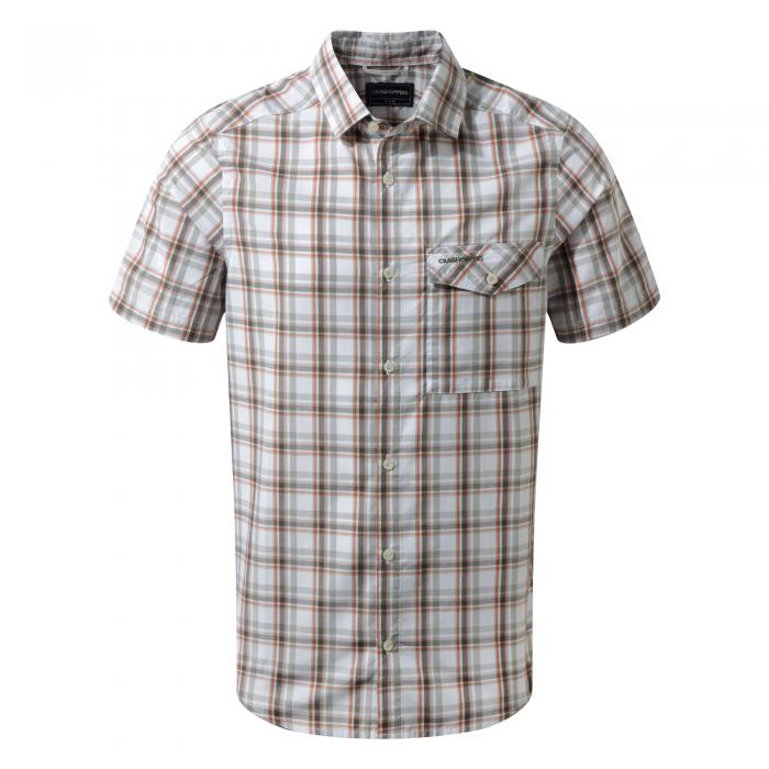 Walkton Short Sleeved Shirt Dark Grey Combo