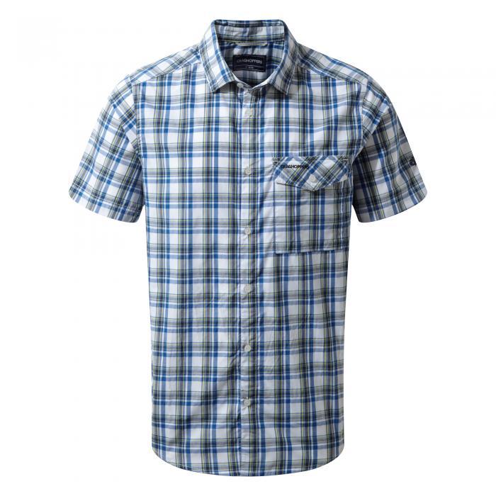 Walkton Short Sleeved Shirt Night Blue Combo