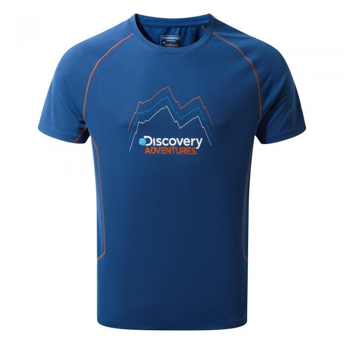 Mens Short Sleeved T-Shirt Deep Blue