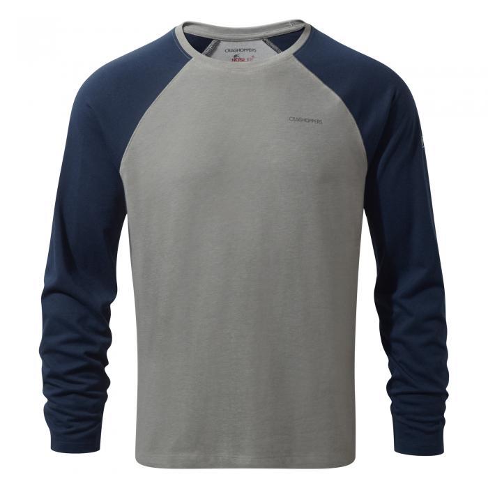 NosiLife Bayame Long Sleeved T-Shirt Soft Grey Blue