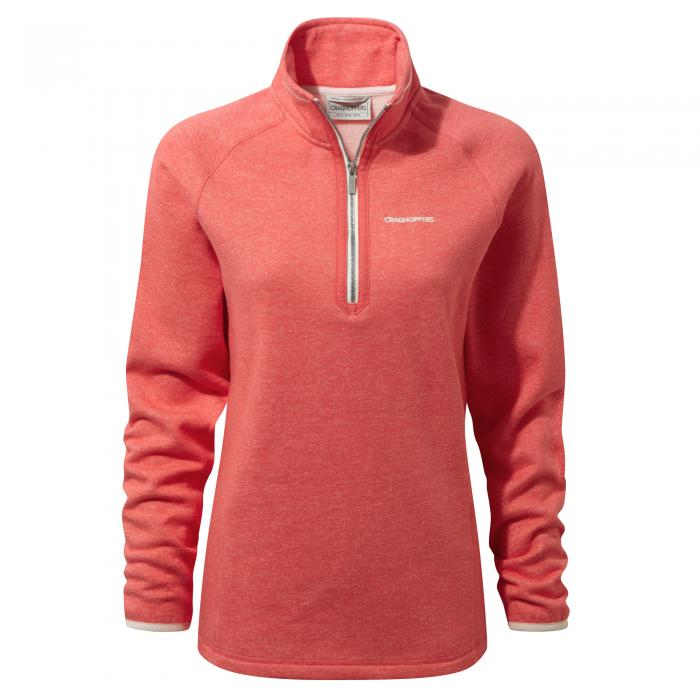 Zoe Half Zip Watermelon Marl