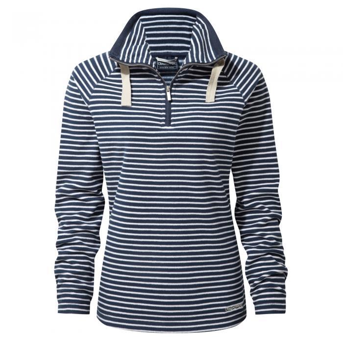 Rhonda Half Zip Fleece Night Blue Combo