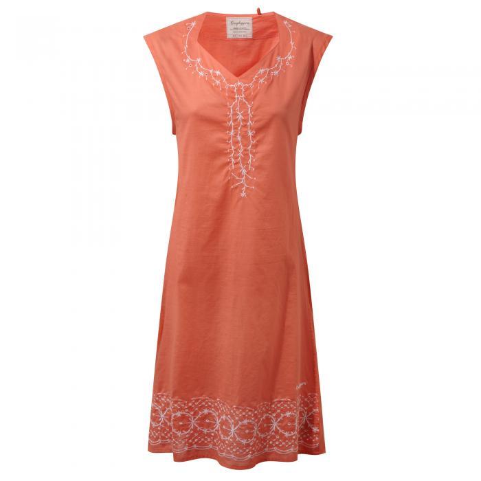 Scarlett Dress Bright Papaya