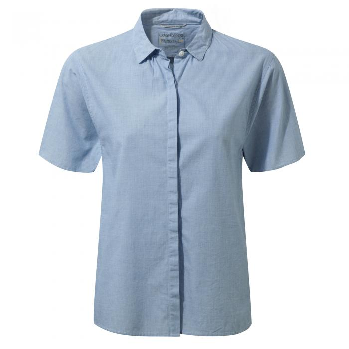 Natalie Short Sleeved Shirt Pale Blue