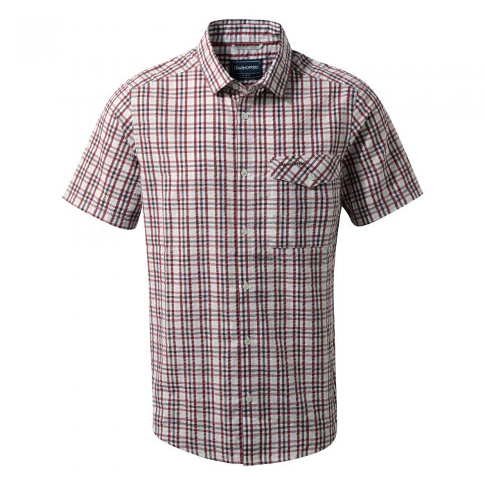 Warby Short Sleeved Shirt Carmine Combo