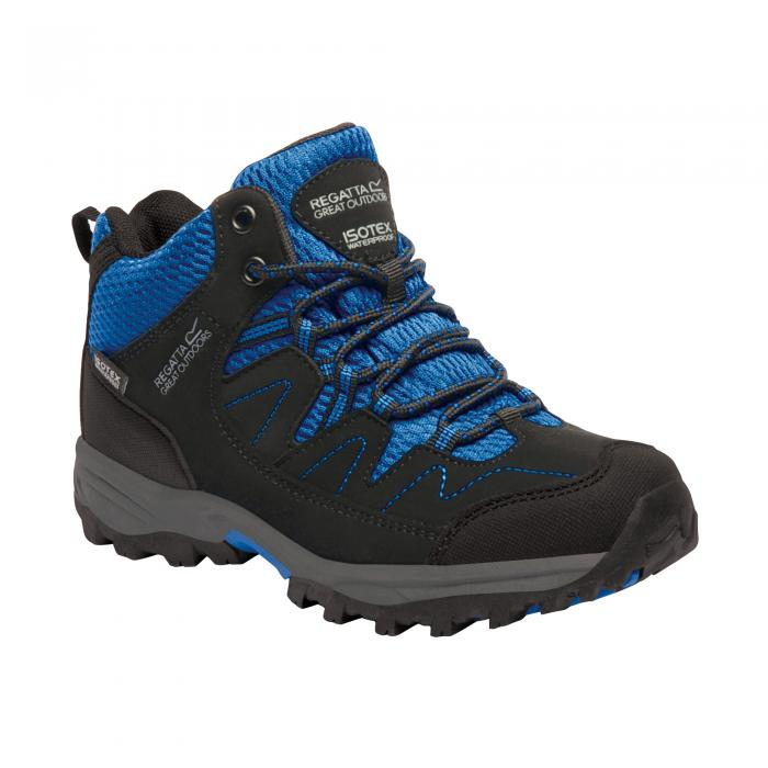 Holcombe Mid Junior Walking Boot Black Blue