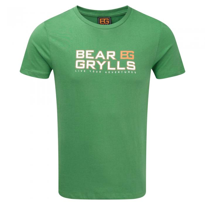 Bear Graphic Tee Leaf Green