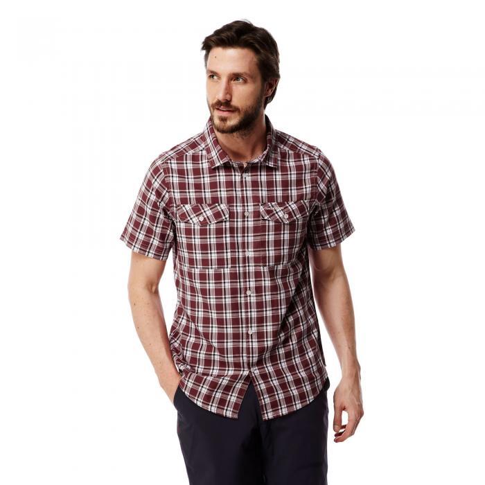 Wensley Short Sleeved Shirt Carmine Combo
