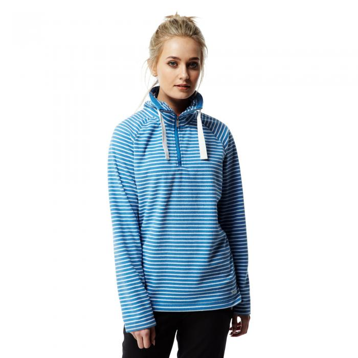 Rhonda Half Zip Fleece Bluebell Combo