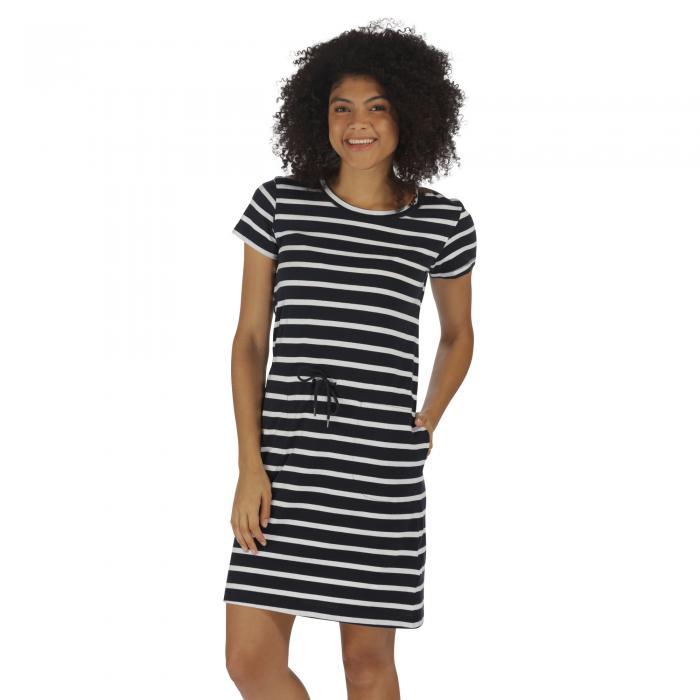 Harissa Dress Navy Stripe