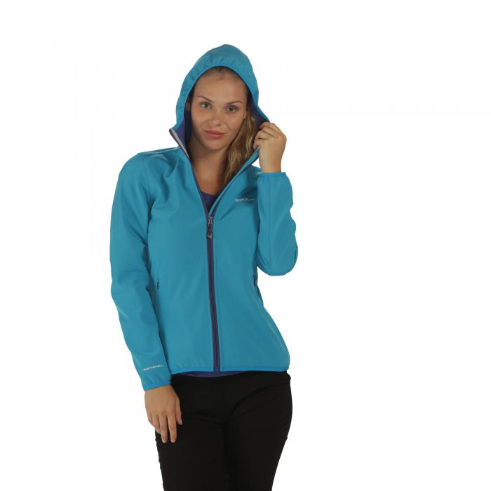 Women's Arec Softshell Jacket Fluro Blue