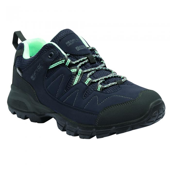 Lady Holcombe Low Walking Shoe Navy Green