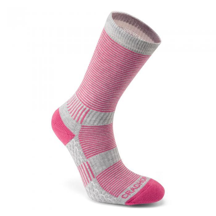 Heat Regulating Travel Sock Pink Dove Grey