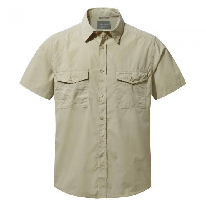 Craghoppers Kiwi Short-Sleeved Shirt - Oatmeal