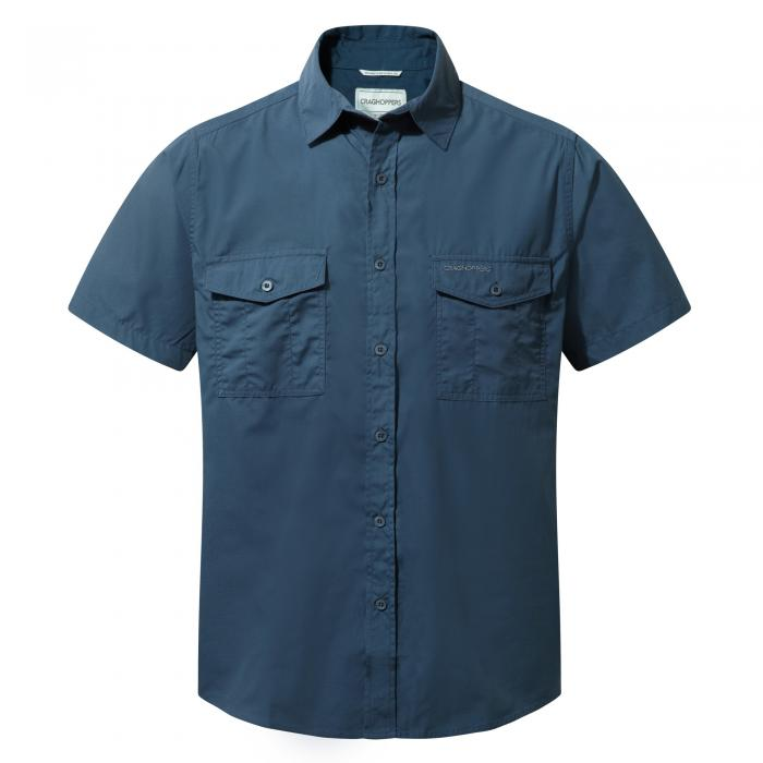 Craghoppers Kiwi Short-Sleeved Shirt - Faded Indigo
