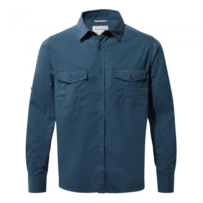 Craghoppers Kiwi Long-Sleeved Shirt - Faded Indigo
