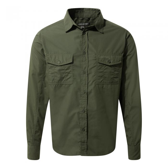 Craghoppers Kiwi Long-Sleeved Shirt - Cedar