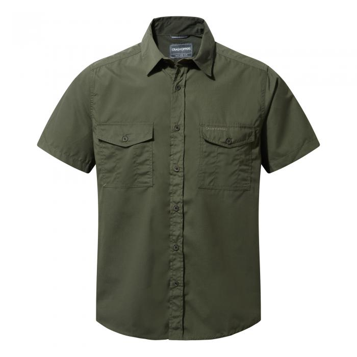 Craghoppers Kiwi Short-Sleeved Shirt - Cedar