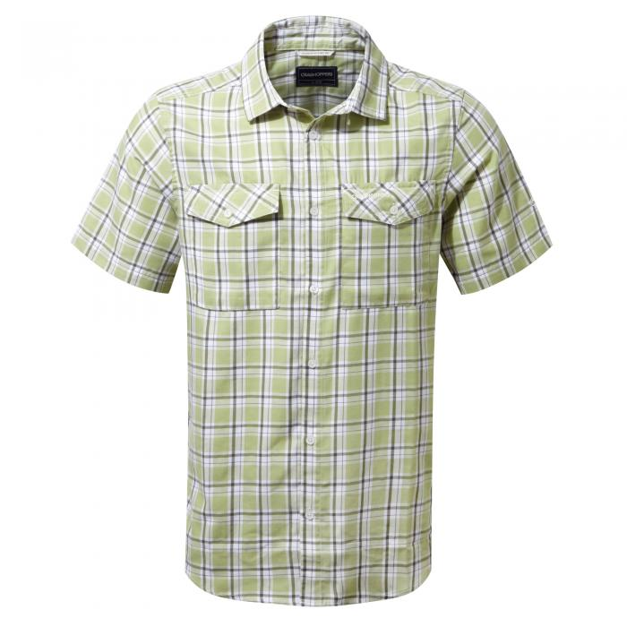 Wensley Short Sleeved Shirt Soft Khaki Combo