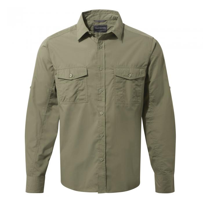 Craghoppers Kiwi Long-Sleeved Shirt - Pebble