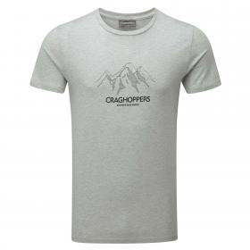 Erec Short-Sleeved T-Shirt Peak Light Grey