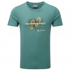 Erec Short-Sleeved T-Shirt Mud Lake Green