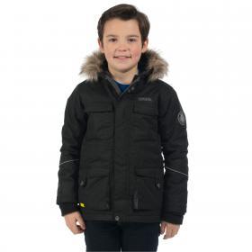 Boys Capton Parka Jacket Black